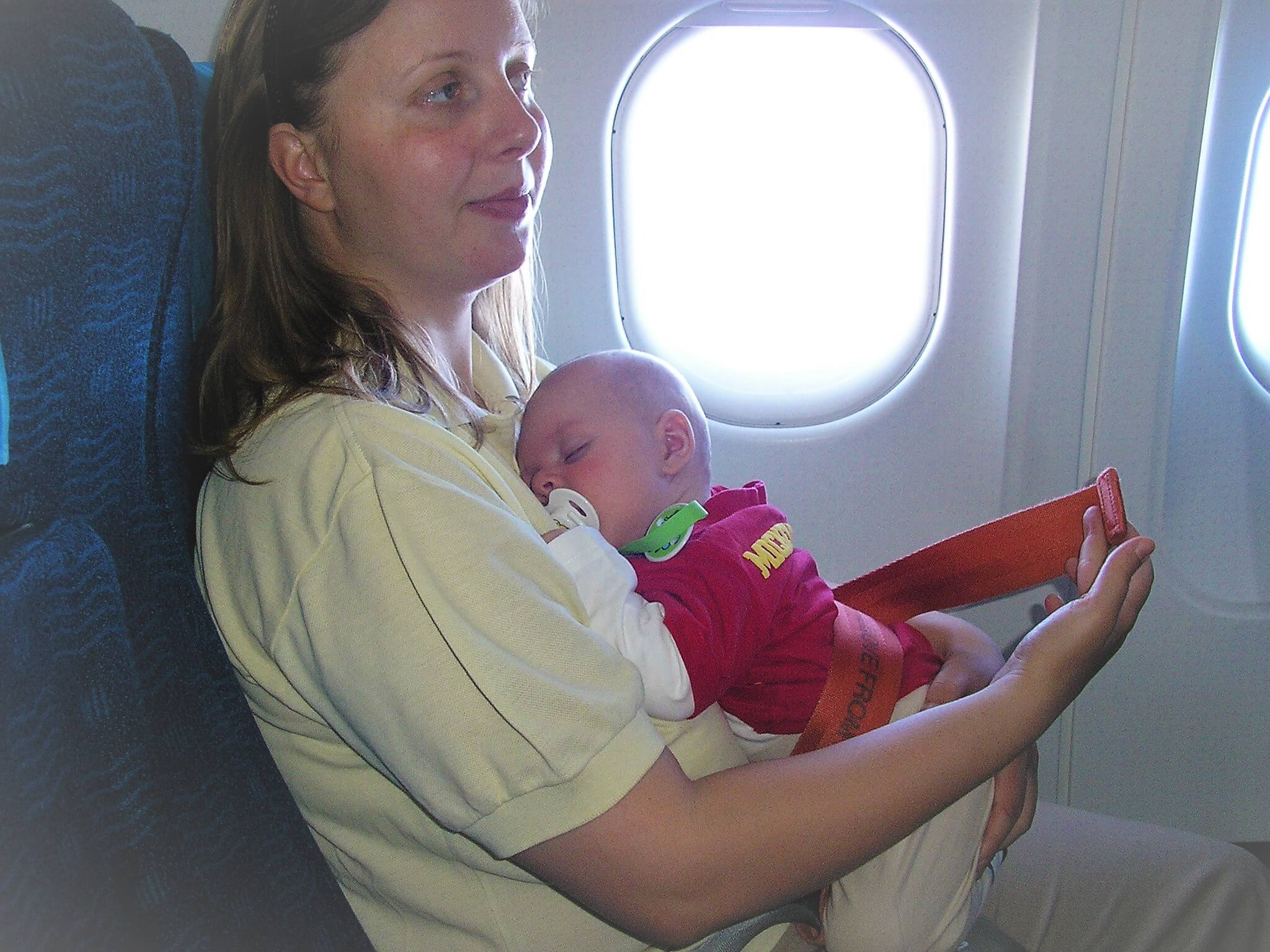 Infant in airplane